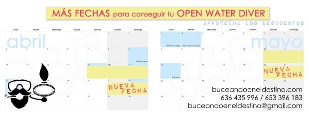 nuevas fechas open