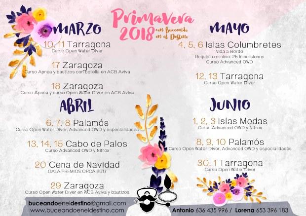 calendario salidas 2018 web